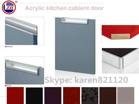 High Glossy Acrylic Mirror Finish Grey Color Kitchen