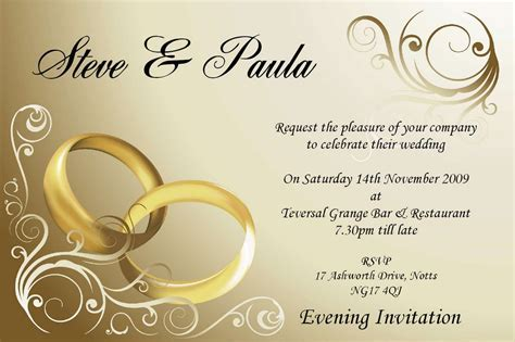 Wedding Invitation Mail Templates