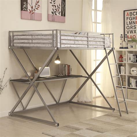 coaster loft bed with desk coaster bunks 400034f workstation loft bed with desk