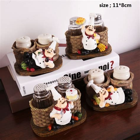 2pcs lot kawaii chef home decoration accessories kitchen home decoration accessories artesanato resin crafts