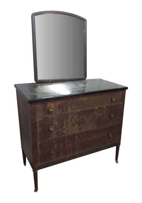 Metal Dresser With Mirror Olde Good Things Metal Bedroom Dresser