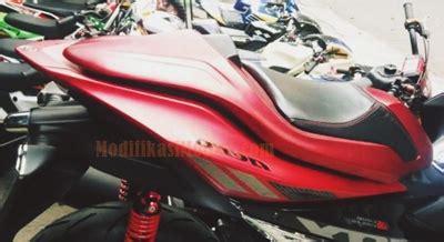 Single Seat 250rr Karbu Merah modifikasi aerox 155 merah single seat modifikasimotorz