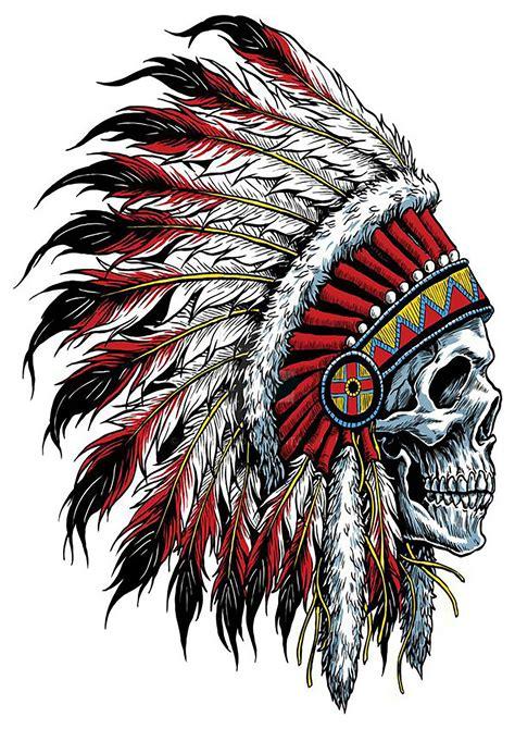 native american skull tattoos american tattoos indian