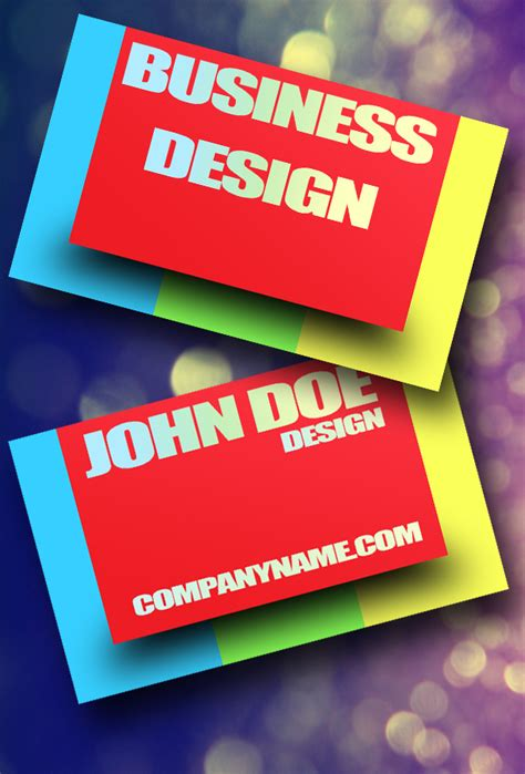 psd business card template with bleed colorful psd business card by freshbusinesscards on deviantart