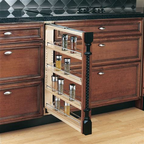 kitchen cabinet pull outs rev a shelf 432 bf 3c natural wood 432 series 3 quot base