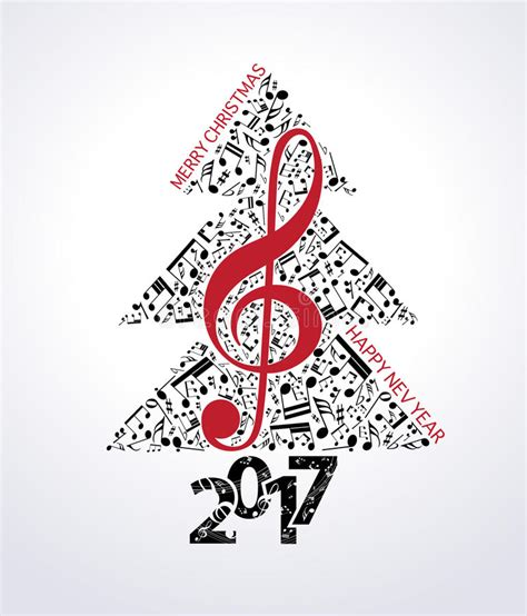 musical notes christmas tree image blue background 2017 stock vector illustration of melody gift 79874353