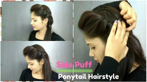 pictures puff hairstyle pics step by step black how to side puff with trick and ponytail hairstyle easy