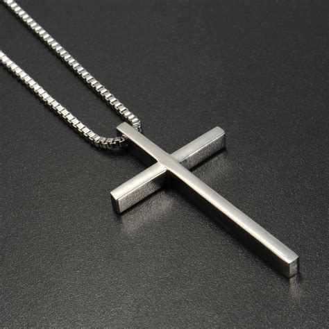 Stainless Steel Pendant Cross by Stainless Steel Cross Pendant Silver Necklace Chain