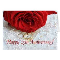 happy 25th anniversary roses card zazzle
