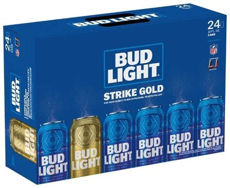 bud light 8 pack five decades of super bowl tickets in one gold can of bud