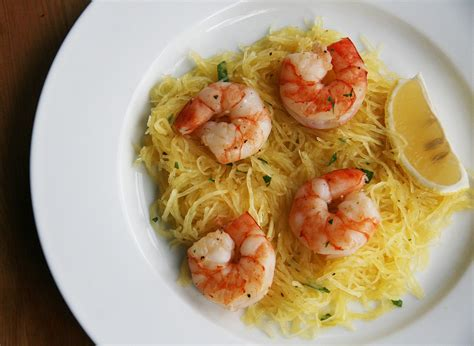 shrimp and spaghetti squash recipe popsugar fitness
