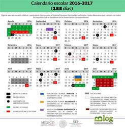 Calendario 2018 Oficial Sep Calendario Escolar Oficial 2016 2017 El Espacio