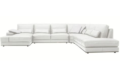 3 piece leather sectional sofa with chaise modern 3 piece white leather nolan sectional sofa zuri