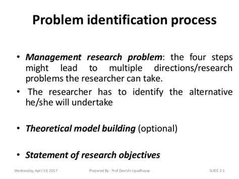 problem formulation and statement of research objectives formulation of the research problem
