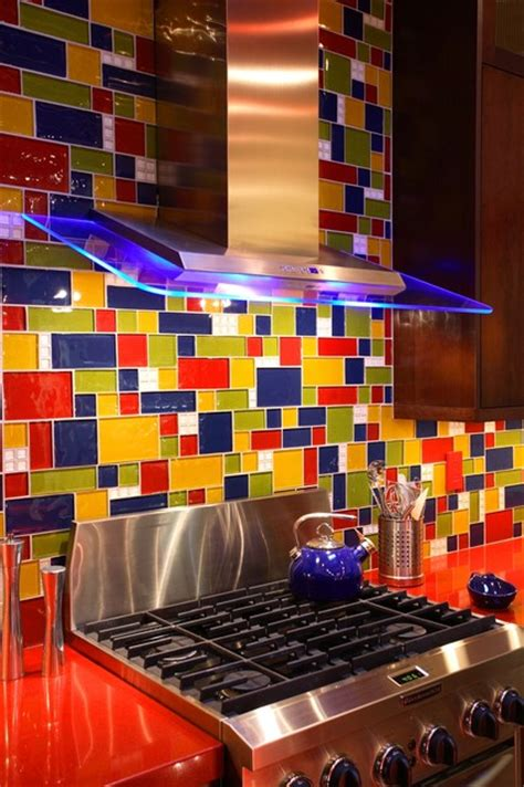 Most Popular Kitchen Cabinet Colors kitchen blue green red amp yellow glass tile