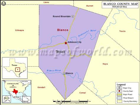 blanco texas map blanco county map map of blanco county texas