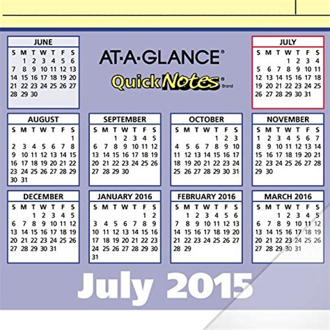 academic year desk calendar at a glance compact monthly desk pad calendar quicknotes
