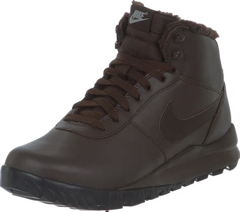 nike hoodland leather shoes brown