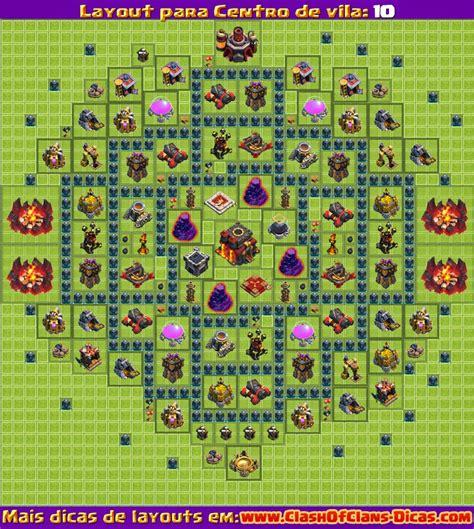 layout design clash of clans melhores layouts para centro de vila n 237 vel 10 clash of