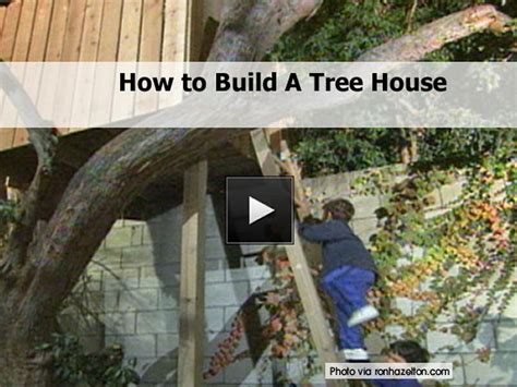 how to go about building a house how to build a tree house