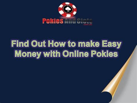 How To Easily Make Money Online - find out how to make easy money with online pokies