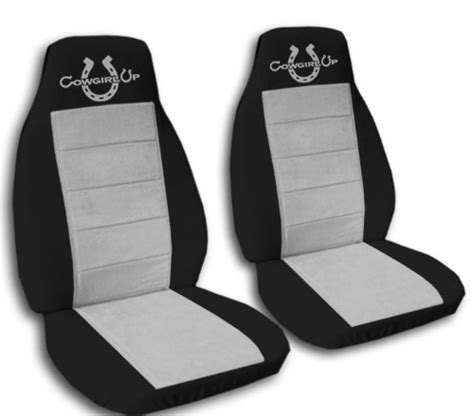 2 Black And Silver Cowgirlup Seat Covers For A 2006 To