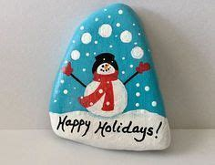 Pet Rock Snowy snowman painted rock painted rocks by me snowman rock and rock painting