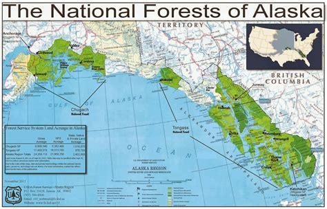 map us national forests 100 alaska on map travel alaska official state of