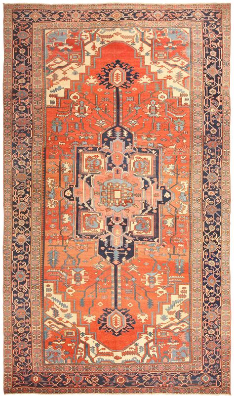 Antique Heriz Serapi Rug 48632 By Nazmiyal Antique Rugs Prices