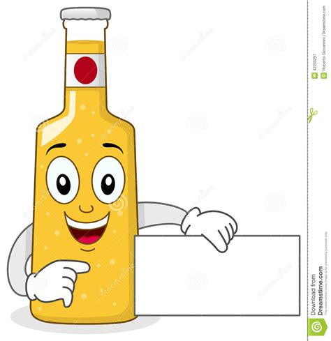 beer bottle cartoon smiling glass beer bottle character stock vector image