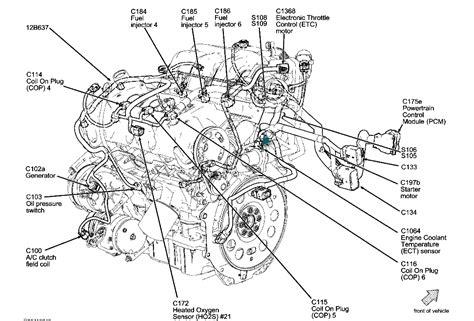 ford fusion engine diagram coolant temperature sensor location need to where