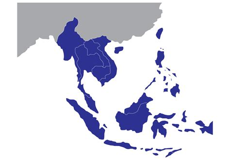 Free Asia Outline Map Vector by Free State Map Of Southeast Asia Free Vector Stock Graphics Images