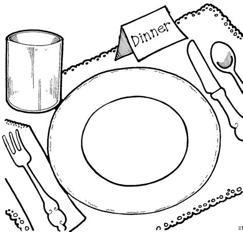 chicken supper coloring page dinner time clipart clipart suggest