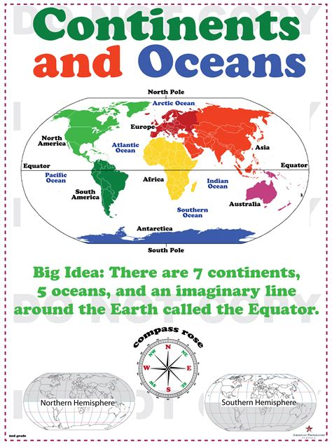 2nd Grade Continents And Oceans Worksheets by Continents And Oceans 2nd Grade