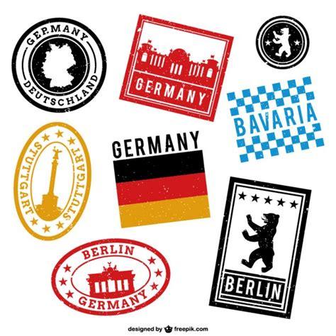 imagenes vintage de sellos sellos estados de alemania descargar vectores gratis