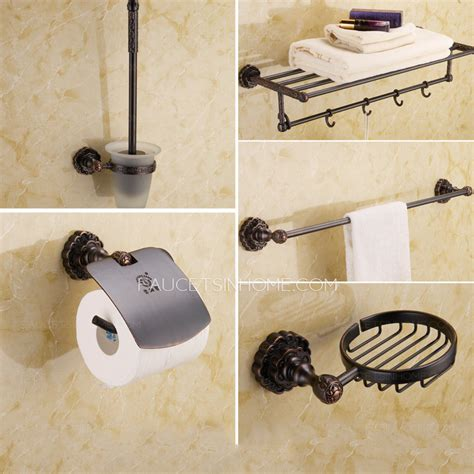 Cool Bathroom Accessories Unique Black 5 Rubbed Bronze Bathroom Accessory Sets
