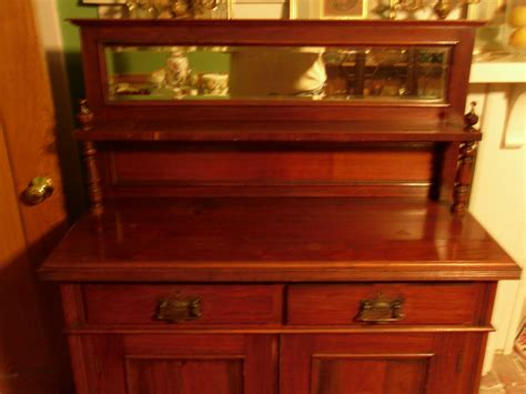 antique buffet mirror buffet sidboard w beveled mirror for sale antiques classifieds