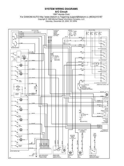 honda civic  wiring diagram automotive technologies car