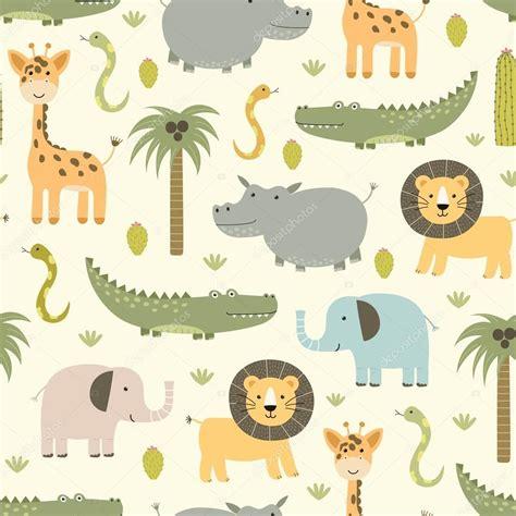 javascript pattern safari safari animals seamless pattern with cute hippo crocodile