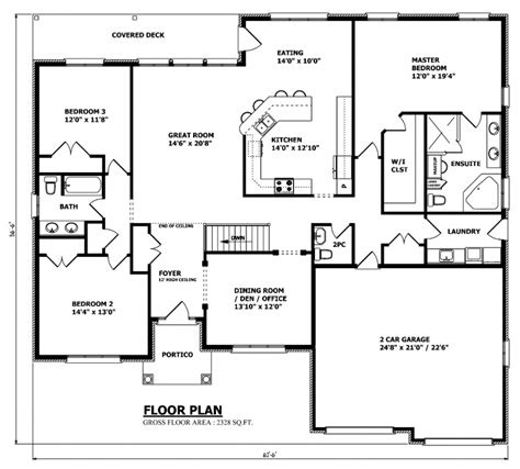 floor plan of the house canadian home designs custom house plans stock house