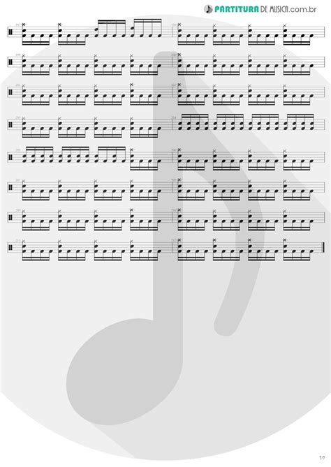 Partitura de musica - Bateria | Fade To Black | Metallica