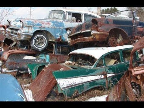 Jaguar Auto Salvage Yards by Classic Car Junkyard Wrecked Vintage Cars