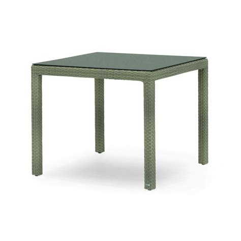 table jardin resine tressee table de jardin carr 233 e en aluminium et r 233 sine tress 233 e brin d ouest
