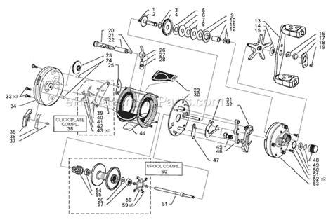 abu garcia reel parts diagram abu garcia 6600 c4 parts list and diagram 15 00