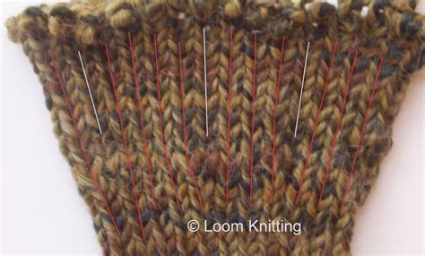 stockinette loom loom knitting increasing stockinette stitches