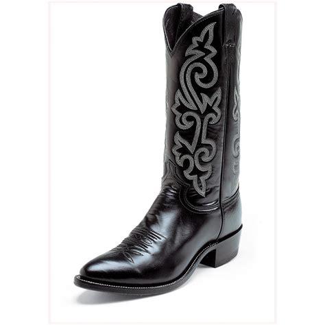 black justin boots s justin 174 13 quot calf boots black 103997