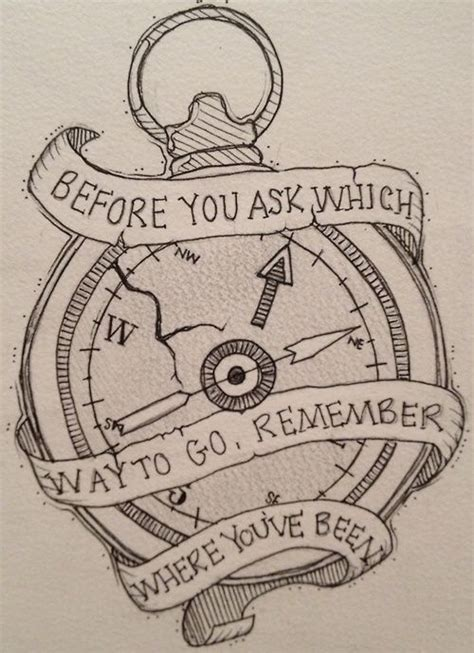 Compass Tattoo Remember Where You Ve Been | compass tattoos and designs page 64