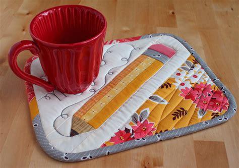 Mug Mat by Patchworkpottery Pencil Mug Rug