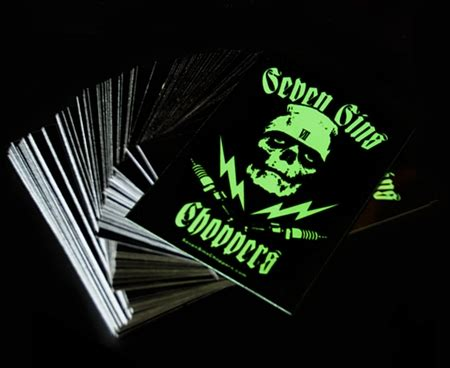 glow in the paint exles seven sins choppers sinister glow in the sticker