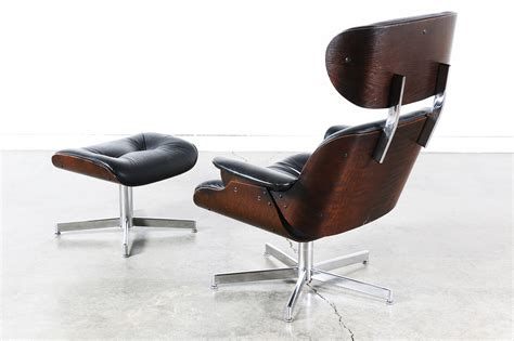 Eames Leather Lounge Chair by Eames Style Black Leather Lounge Chair Vintage Supply Store